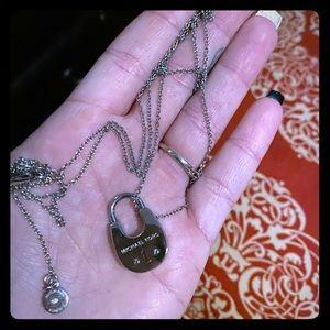 Michael Kors lock necklace, original logo chain